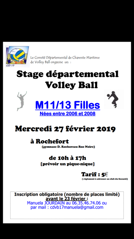 STAGES DEPARTEMENTAUX